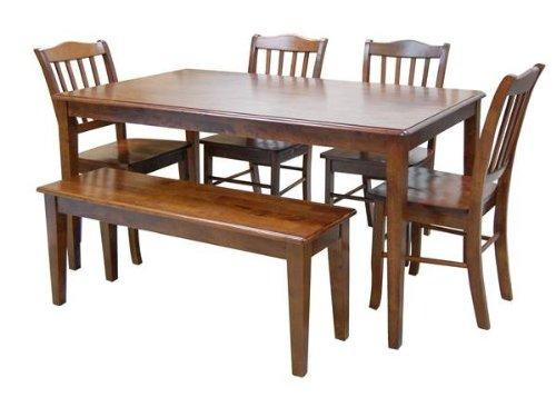 6pc Shaker Dining Set, Walnut