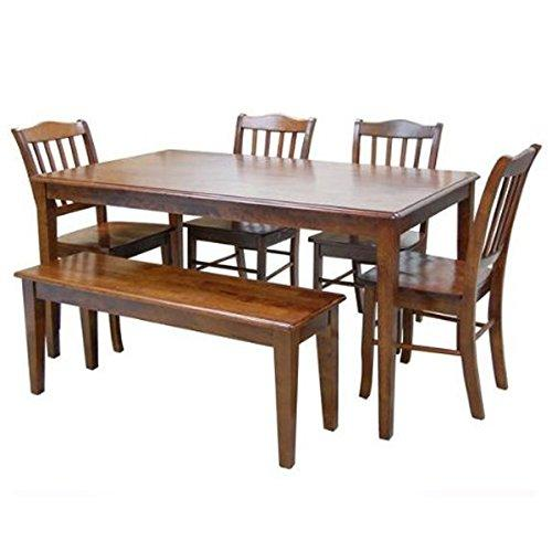 Boraam 6pc Shaker Dining Set, Walnut [Item # 86636A]