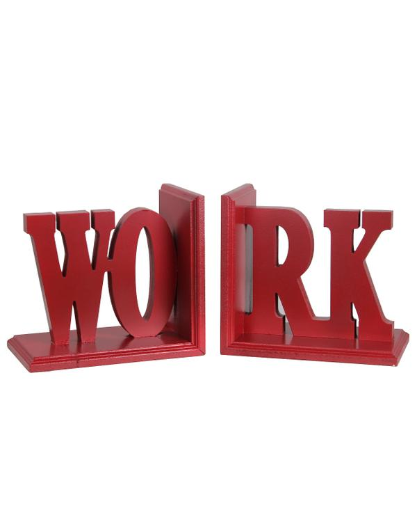 Wooden Bookends - Work
