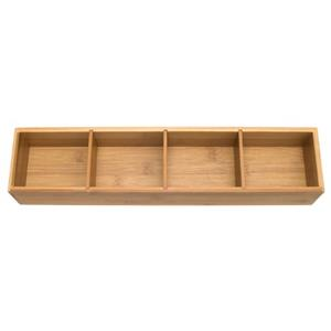 Bamboo 4 Part Drawer Org W/ Removable Dividers-