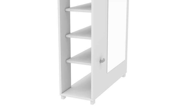 Accentuations By Manhattan Comfort Valencia 1.0-10-Shelf With 3 Hooks And Full Length Mirror Shoe Closet