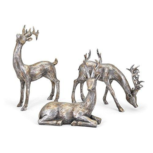 Gold and Silver Christmas Reindeer - Set of 3