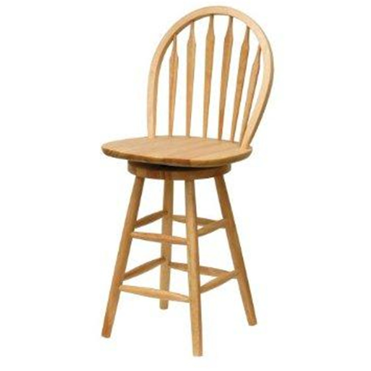 Wood 24 inch Windsor Swivel Seat Bar Stool Natural