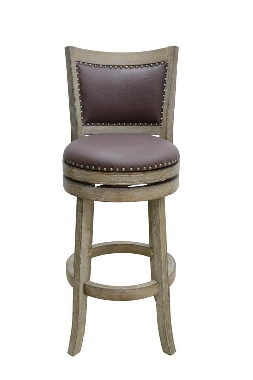Cantabria Wire-Brush Swivel Stool