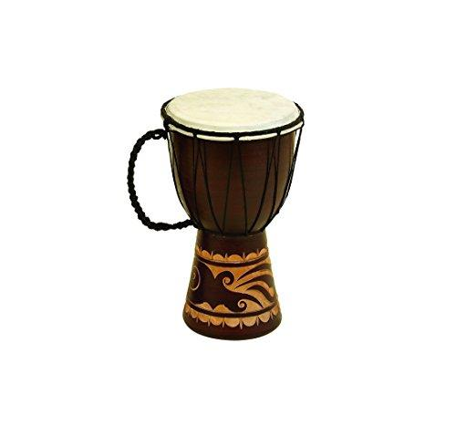Wood Leather Djembe Drum Fordecor With Musical Blend