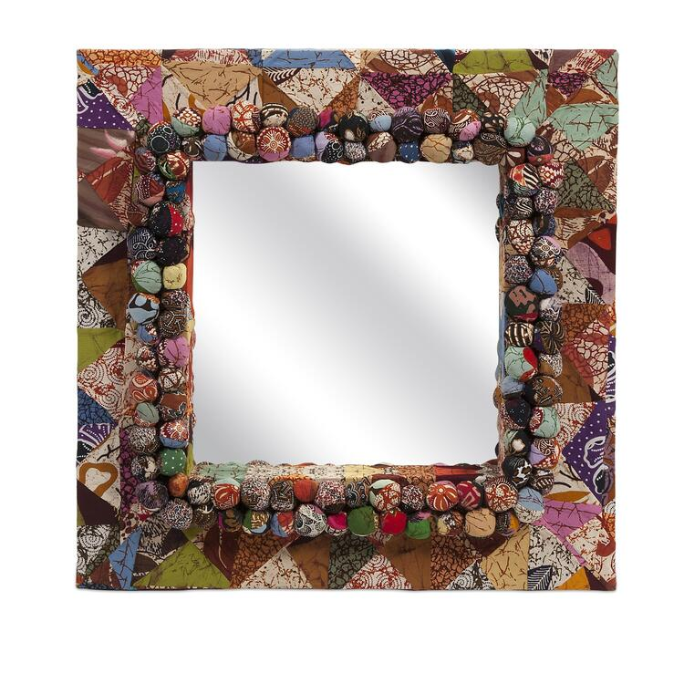 Alessandra Recycled Batik Fabric Mirror