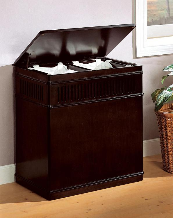 Coaster Transitional Cappuccino Laundry Hamper