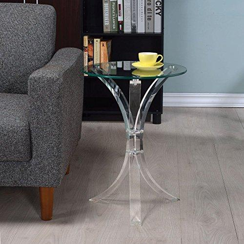Coaster Contemporary Clear Accent Table [Item # 900490]