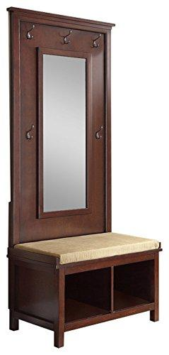 Coaster Transitional Raw Umber Hall Tree with Mirror