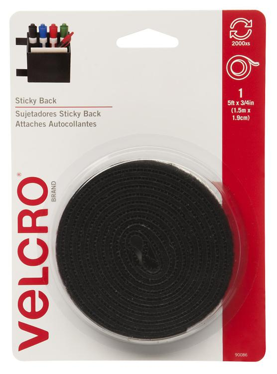 Velcro 90086 Tape Black 3/4X5'