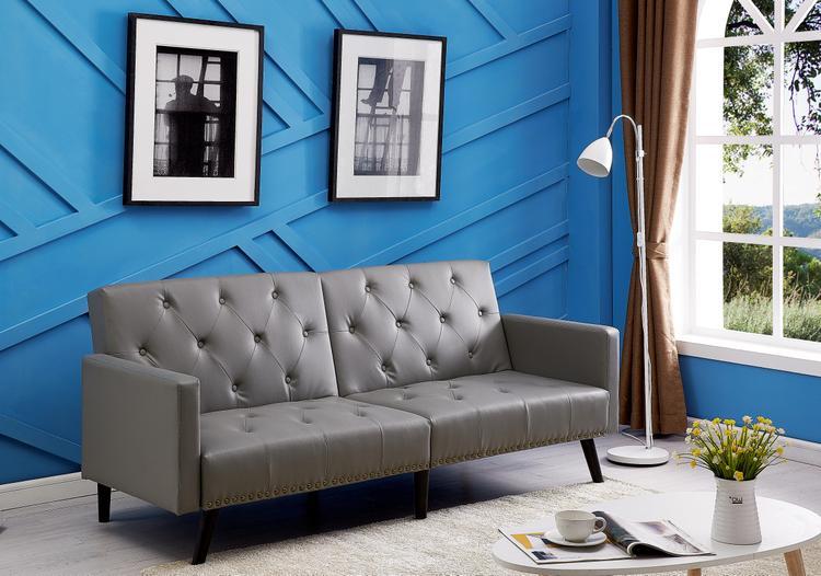 Naomi Home Convertible Tufted Futon Sofa [Item # 90107B]