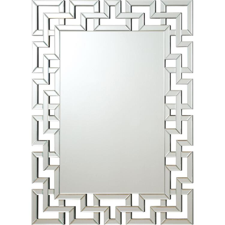 Coaster Home Transitional Frameless Greek Key Mirror