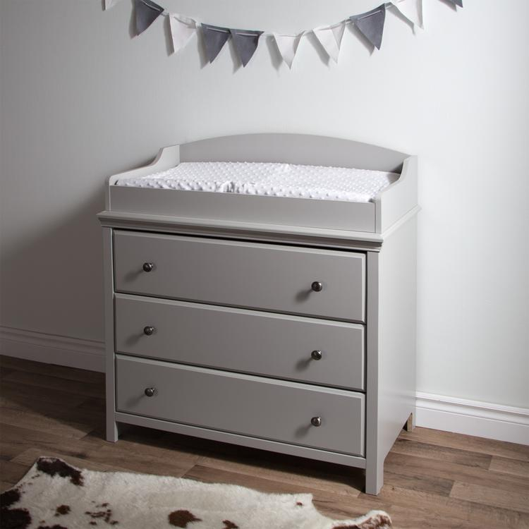 South Shore Cotton Candy Changing Table With Drawers [Item # 9020330]