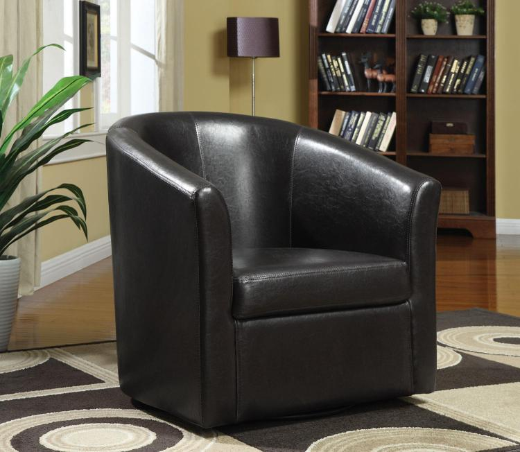 Coaster Contemporary Dark Brown Accent Chair - [902098]