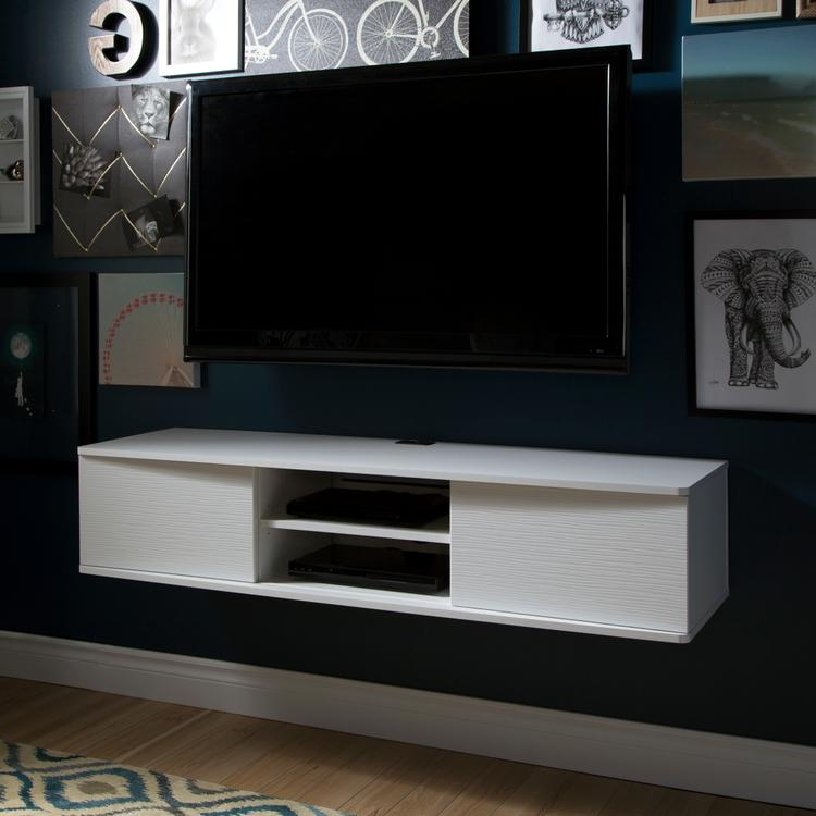 South Shore Agora Wide Wall Mounted Media Console