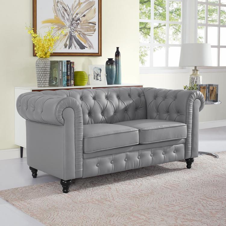 Naomi Home Emery Chesterfield Love Seat [Item # 90307]