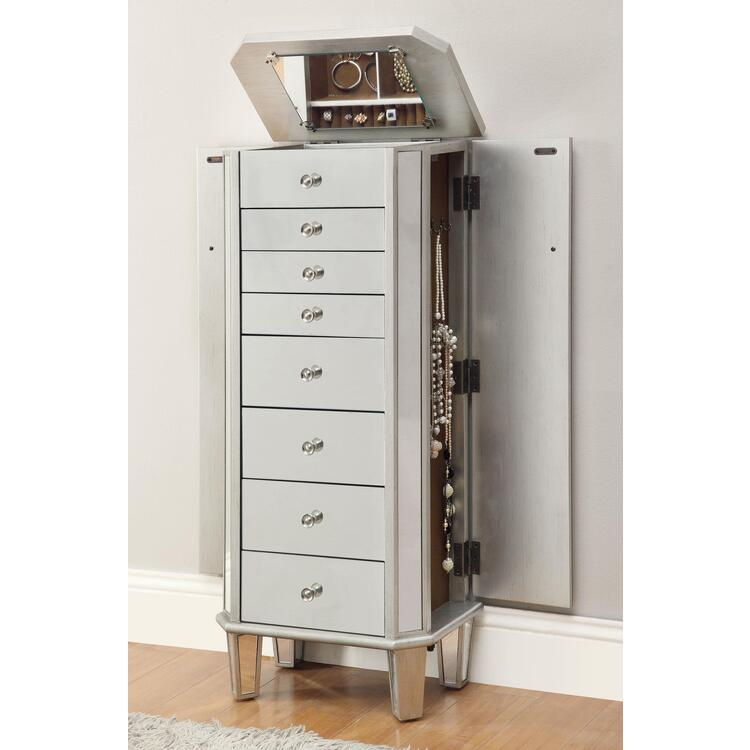 Coaster Home Furnishings 7-Drawer Jewelry Armoire