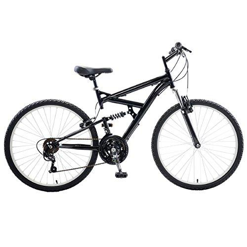 Dual Suspension Mountain Bike, 26 inch wheels, 18 inch frame, Men's Bike, Black