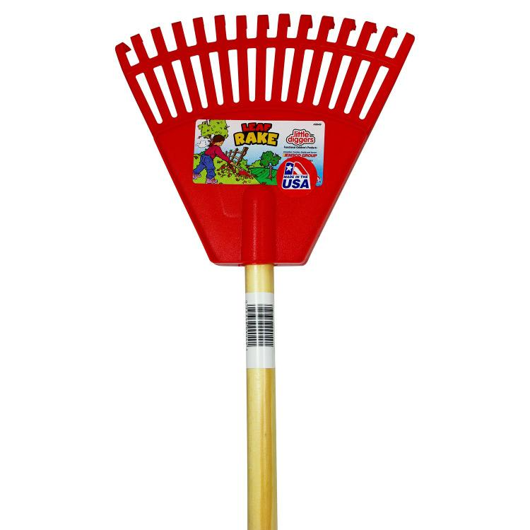 Cavex Little Diggers Kids Leaf Rake  Child Safe Tool  Garden with Your Kids