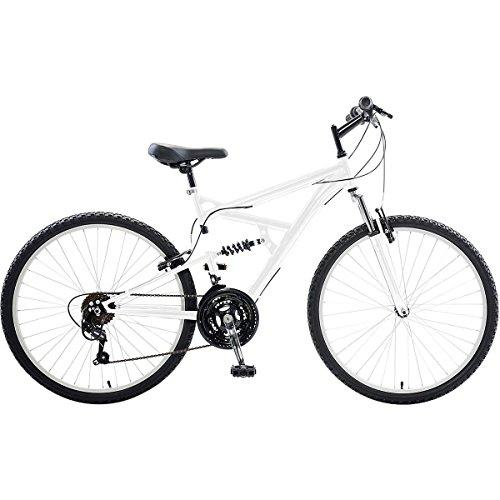 Dual Suspension Mountain Bike, 26 inch wheels, 18 inch frame, Men's Bike, White