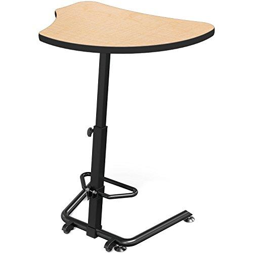Up-Rite Harmony Sit to Stand Configurable Student Desk - 7919 Amber Cherry Front Surface and Laminate Backer Back Surface - Black Edgeband