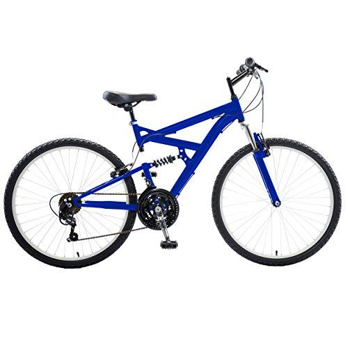 Dual Suspension Mountain Bike, 26 inch wheels, 18 inch frame, Men's Bike, Blue