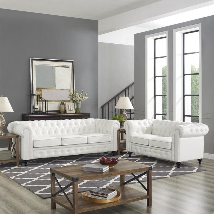Naomi Home Emery Chesterfield Love Seat & Sofa