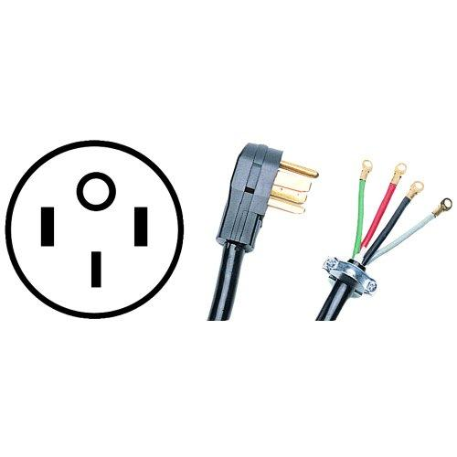 CERTIFIED APPLIANCE 90-2082 4-Wire Range Cord, 50 Amps (5ft)