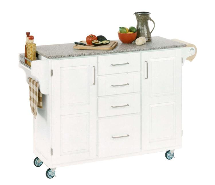 Home Styles Salt and Pepper Granite Top On White Cabinet
