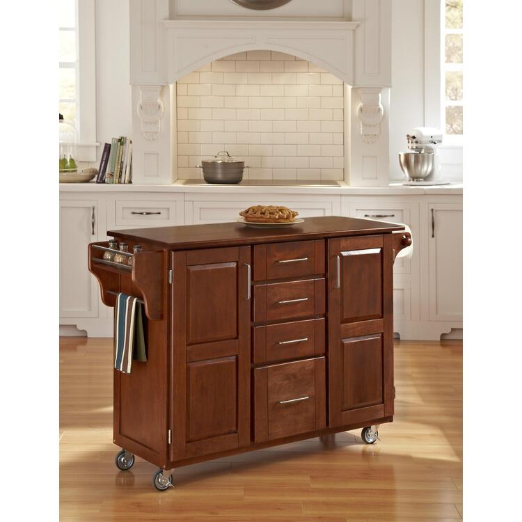 Home Styles Create-a-Cart Warm Oak Finish