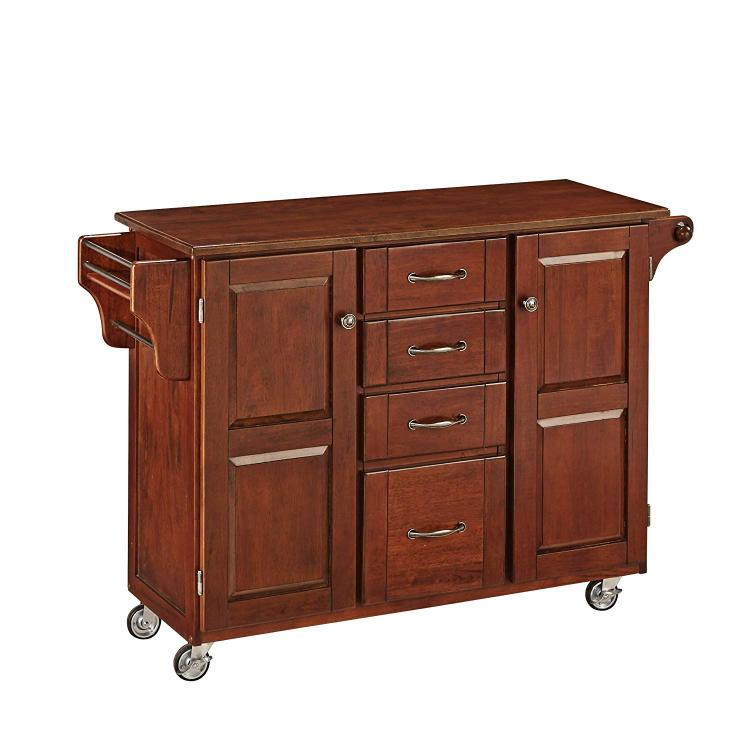 Home Styles Create-a-Cart Cherry Finish