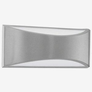 2x6W LED Outdoor Wall Light w/ Silver Finish & White Glass [Item # 91769A]