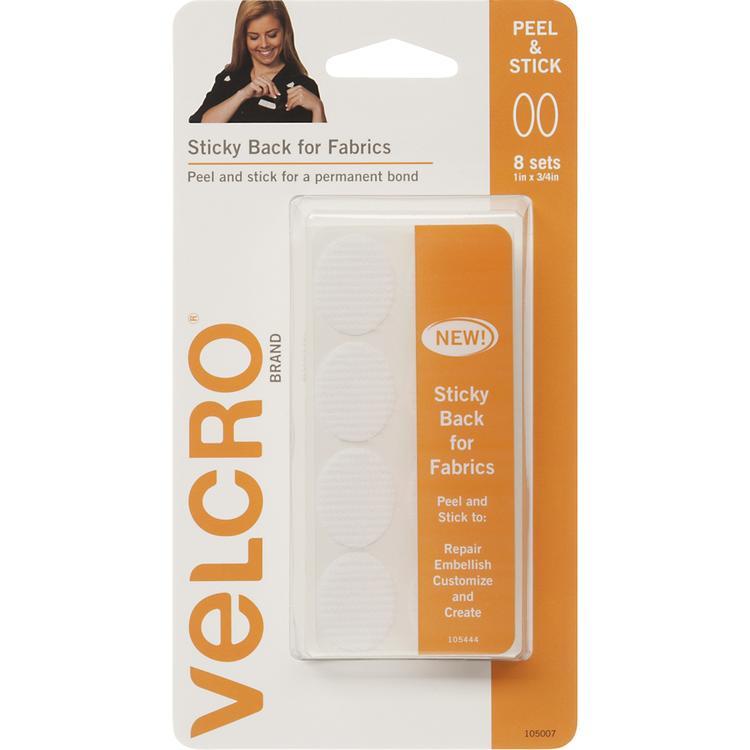 VELCRO(R) Brand STICKY BACK For Fabric Ovals 1