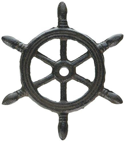 Cast Iron Ship Wheel Decorative Christmas Ornament 4''