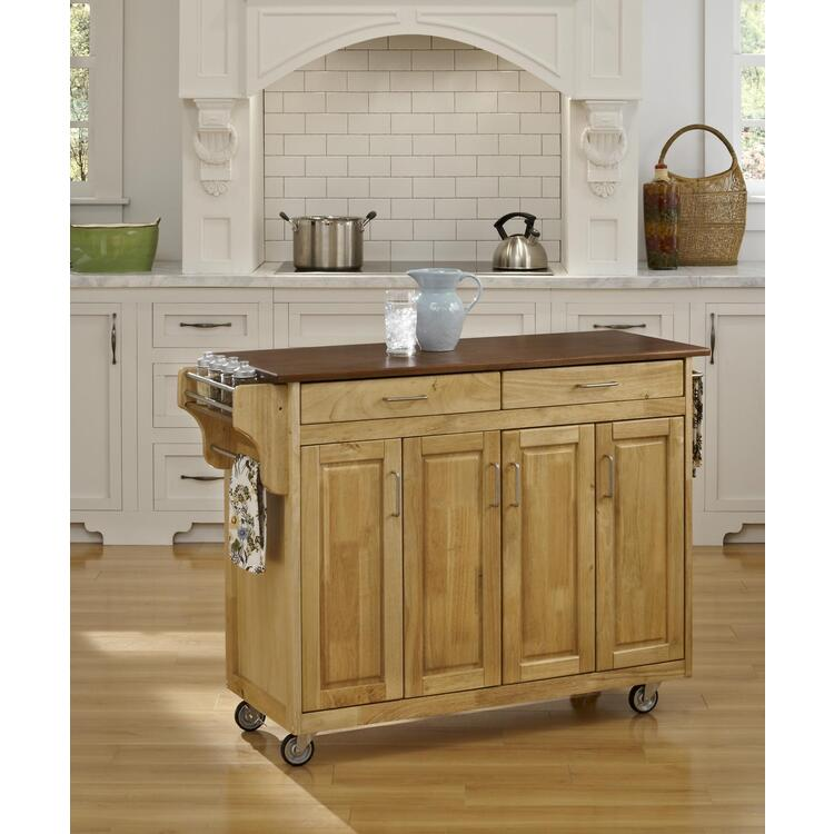 Home Styles Create-a-Cart Natural Finish
