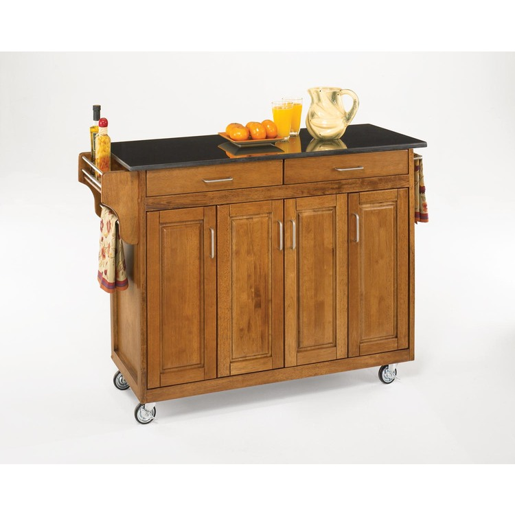 Create-a-Cart Cottage Oak Finish with Choice of Top