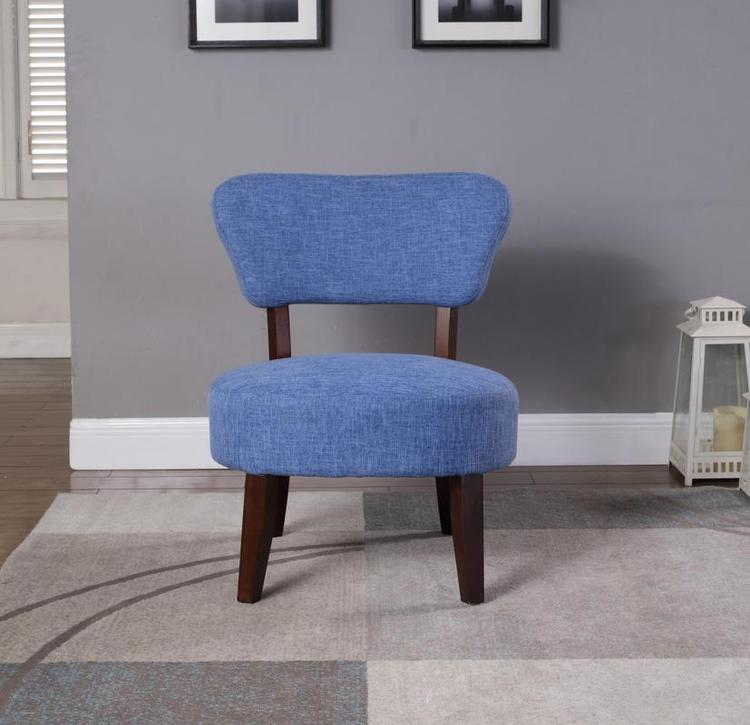 Nathaniel Home Round Seat Accent Chair, Blue [Item # 92014-16BL]