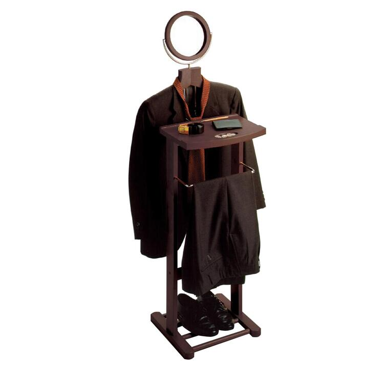 Valet Stand with Mirror, open base