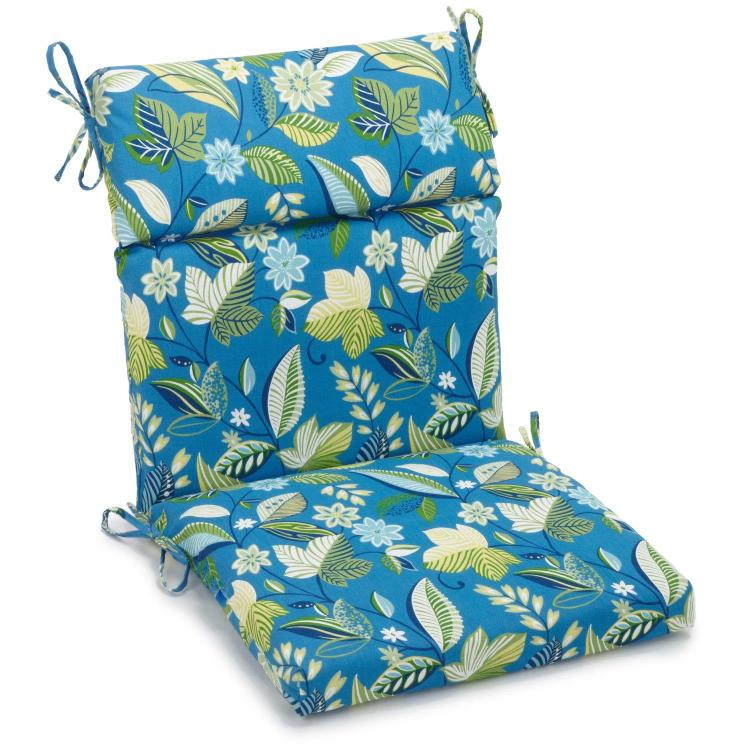 20-inch by 42-inch Spun Polyester Outdoor Squared Seat/Back Chair Cushion