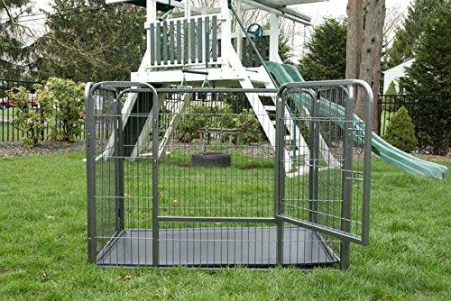 Iconic Pet - Heavy Duty Rectangle Tube pen Dog Cat Pet Training Kennel Crate - 36