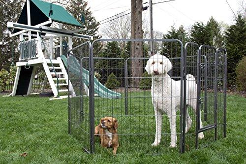 Iconic Pet - Heavy Duty Metal Tube pen Pet Dog Exercise and Training Playpen - 40
