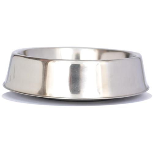 Iconic Pet - Anti Ant Stainless Steel Non Skid Pet Bowl for Dog or Cat - 64 oz - 8 cup
