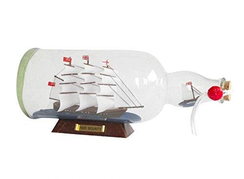 HMS Bounty Model Ship in a Glass Bottle 11''