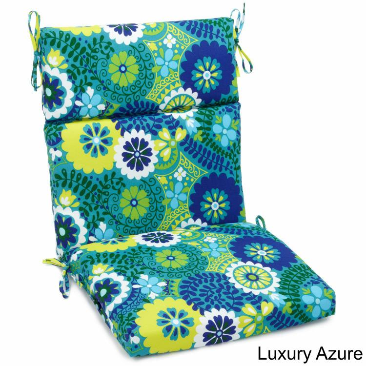 22-inch by 45-inch Spun Polyester Outdoor Squared Seat/Back Chair Cushion