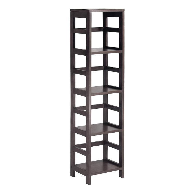 Winsome Wood Leo Shelf with 4-Tier