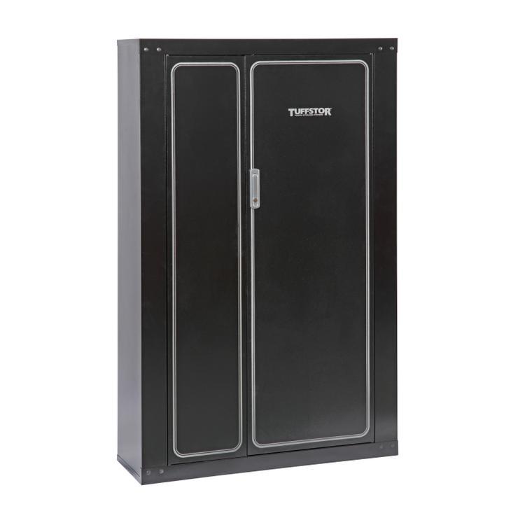 American Furniture Classics Tuff Stor Model 926 16 Gun Metal Security Cabinet with two doors