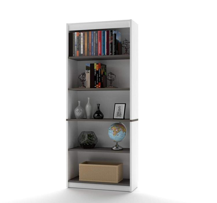 Bestar Innova Bookcase in White and Antigua