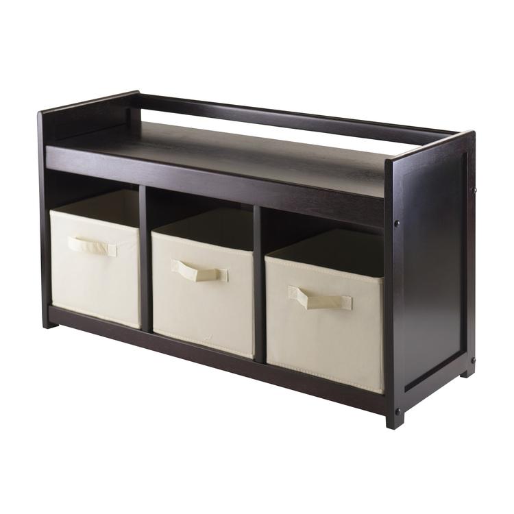 Winsome Wood Addison 4pc Storage Bench