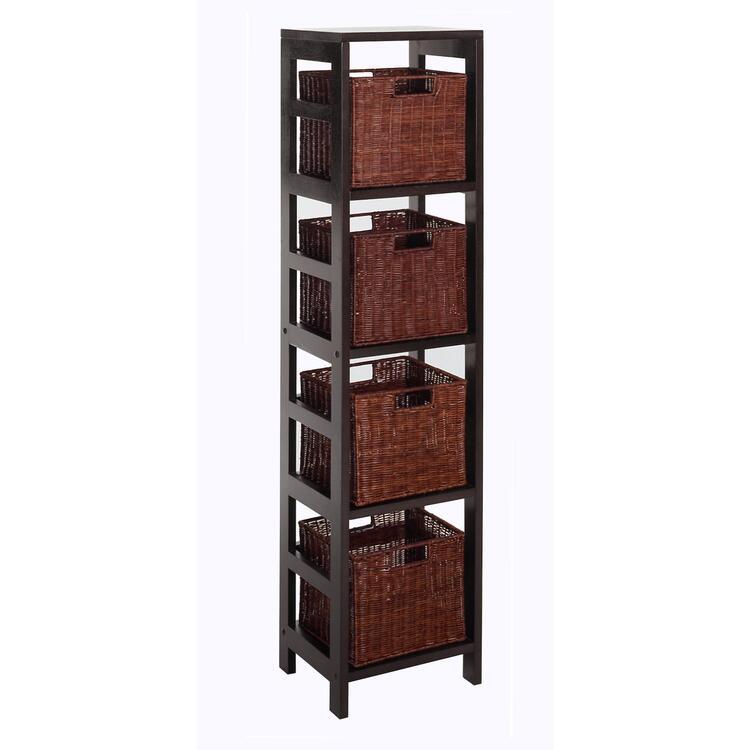 Winsome Wood Leo 5pc Storage Shelf With