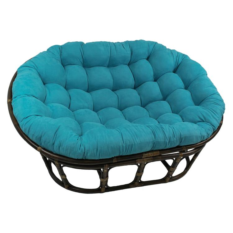 65-inch by 48-inch Solid Micro Suede Double Papasan Cushion